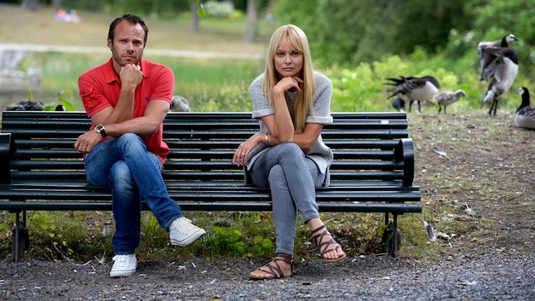 Izabella Scorupco och David Hellenius ska spela huvudrollerna i relationskomedin 'Sista chansen' Foto: Janerik Henriksson. Foto: Scanpix