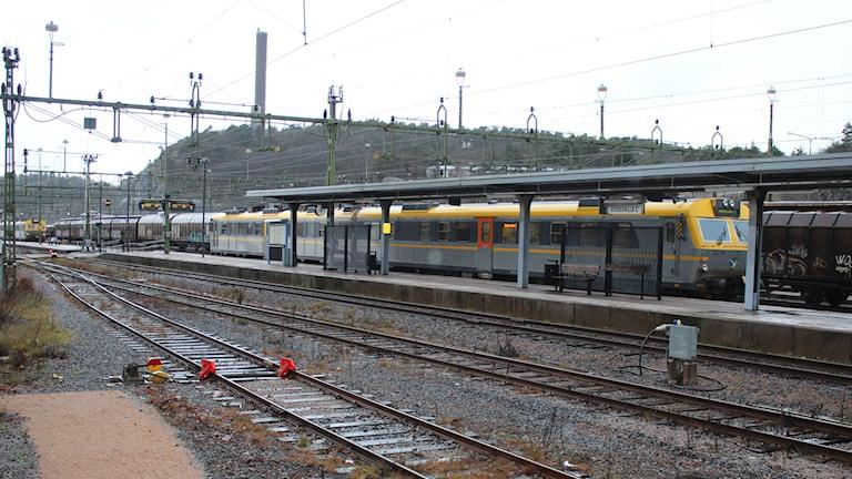 Tåg på Uddevalla station. Foto: Tommy Öster/P4 Väst