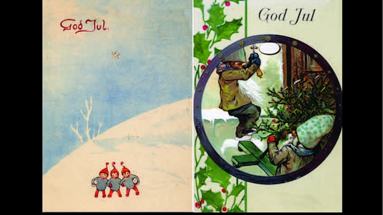 Julkort. Foto: Postmuseum