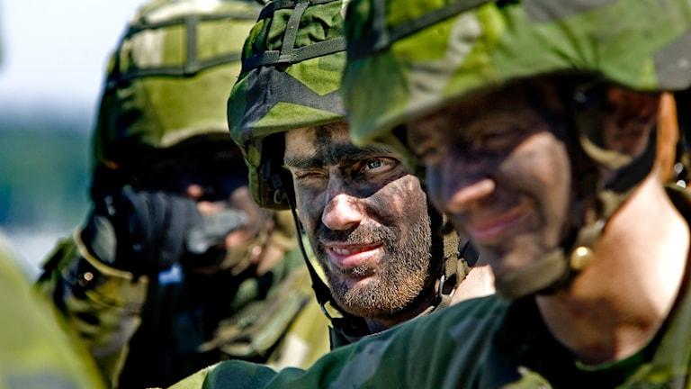Soldater i Livgardet. Foto: Pontus Lundahl/TT.