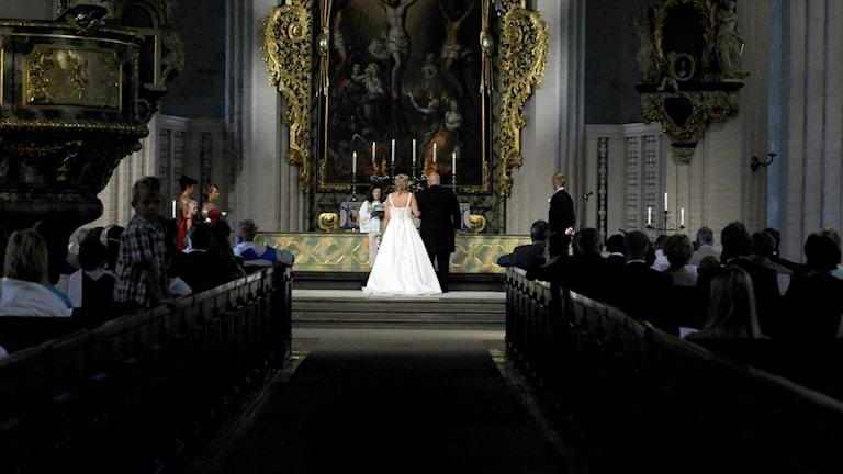 Bröllop. Foto:Bertil Ericson/TT 10100