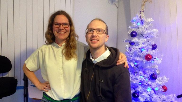 David Skälemyr och Linda Larsson från Studio 32 Foto: Elisbaeth Cederblad P4 Väst Sveriges Radio