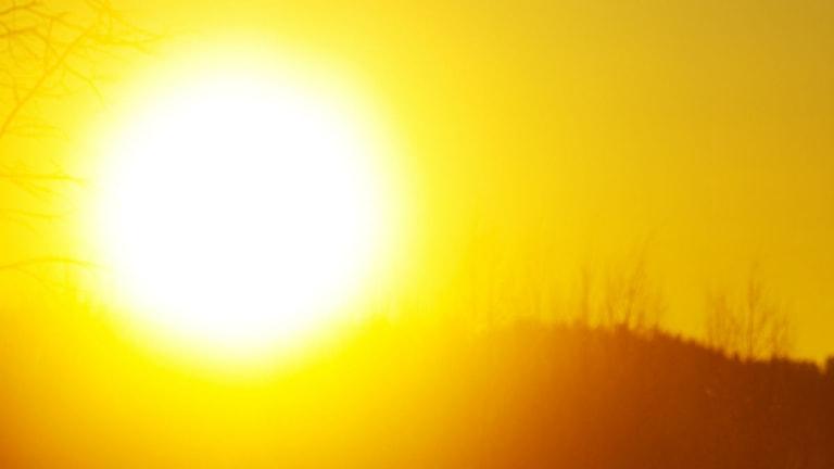 Bild på solen om vintern