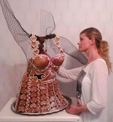 Kajsa Nilsson gjorde en imponerande klänning i storlek 36.