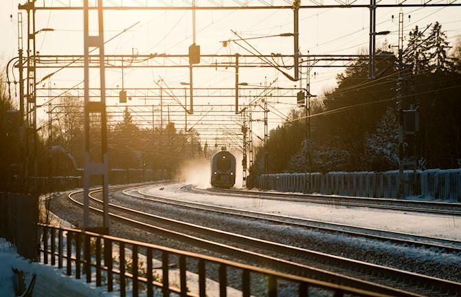 Nästan hälften av västtågen i vårt område var försenade förra veckan. Foto: Henric Montomery/TT