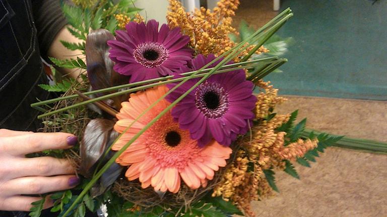 Bild på blomsterbukett