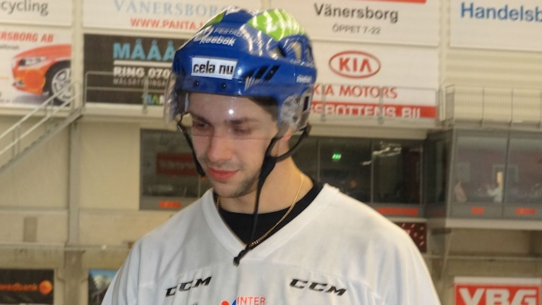 Bandy IFK Vänersborg Christoffer Fagerström Foto: Bengt Israelsson/Sveriges Radio
