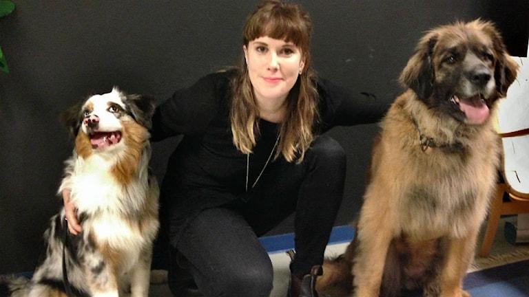 P4 Västs snyggaste hundar vinnare och programledare Cajsa Vingros Carlson