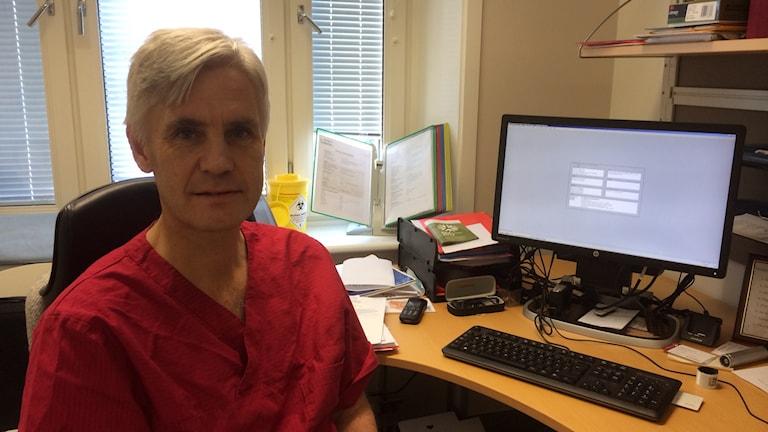 Per Midtvedt, chef för Strömstad läkarhus Foto: Cecilia Bergil P4 Väst