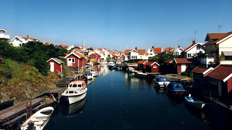 Småbåtar och fiskestugor i Grundsund på västkusten Foto: Björn Larsson Ask/Scanpix