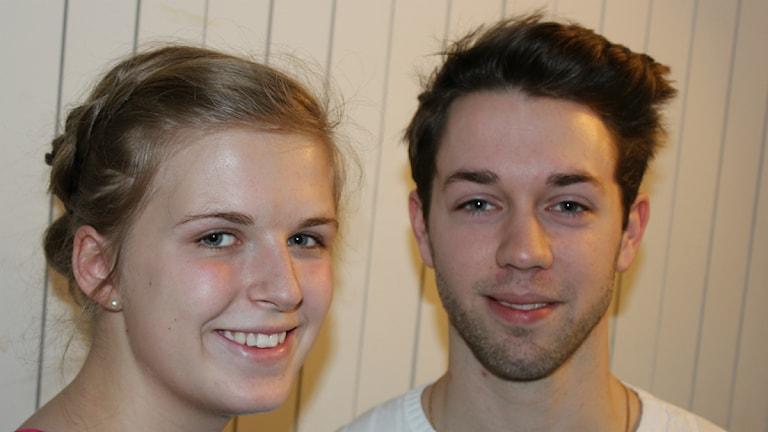 Elin Lindh och Markus Melin. Foto: Peter Olsson/P4 Väst Sveriges Radio