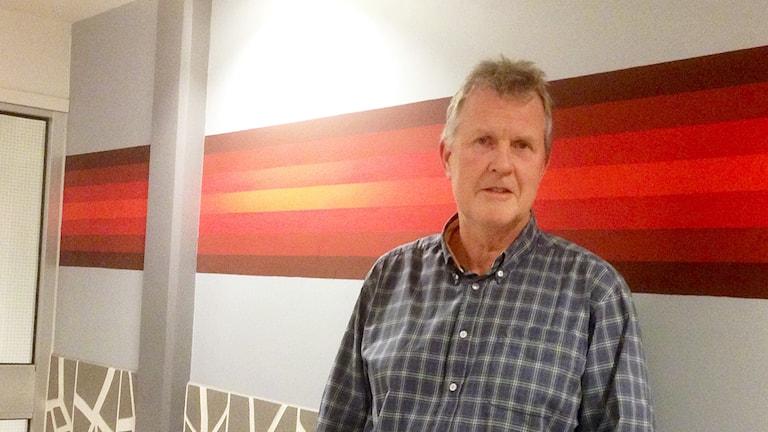 Bert-Ove Larsson, verksamhetschef på infektionskliniken i NU-sjukvården. Foto: Elisabeth Cederblad/Sveriges Radio.