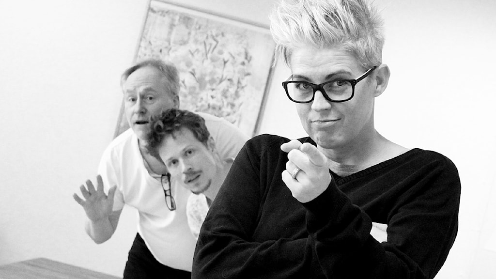 Peter Sundblad, Therese McDonald och Jimmie Schewenius. Foto: Susanna Wictorzon/Sveriges Radio.