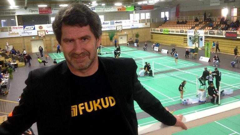 Tommy Hedlund, tävlingsledare badminton SM.