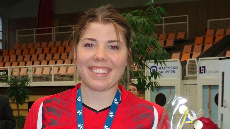 Badminton Ellinor Widh Svensk mästare Foto: Bengt Israelsson/Sveriges Radio
