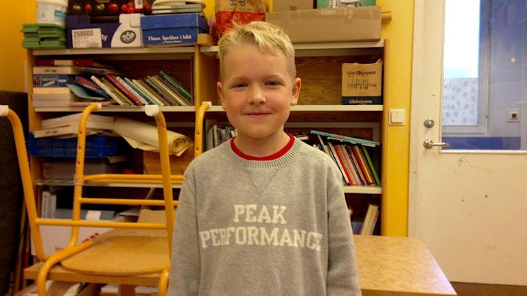 Ted Alfredsson från Hamburgsundsskolan. Foto: Karin Blomqvist/Sveriges Radio