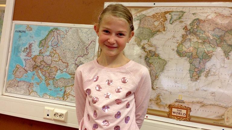 Kajsa Oskarsson från Hamburgsundsskolan. Foto: Karin Blomqvist/Sveriges Radio