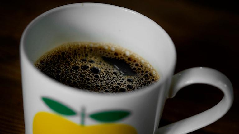 En kopp med kaffe. Foto: Jessica Gow/TT.