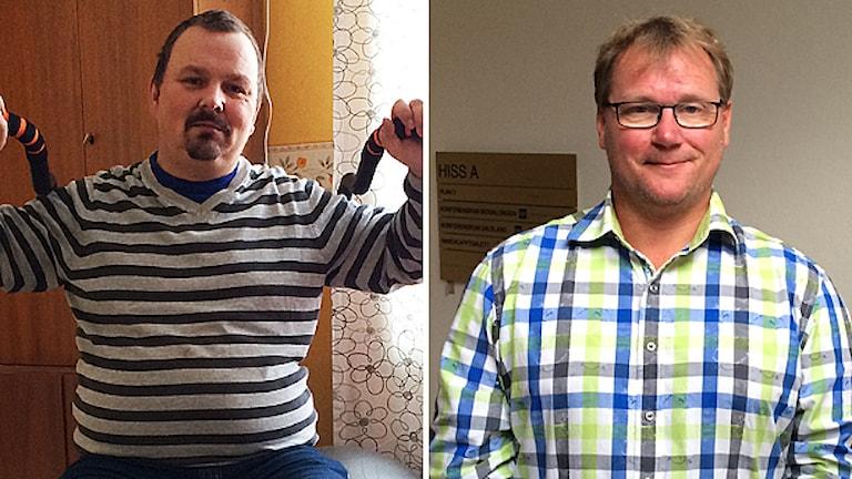 Benny Johansson och Jonas Andersson (FP). Foton: Sveriges Radio.