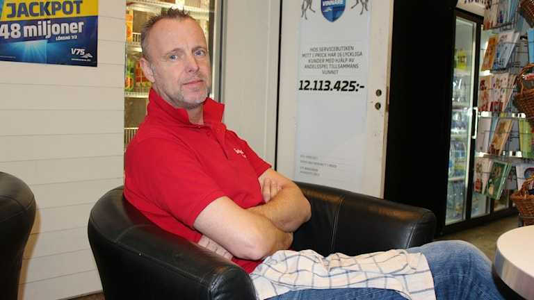 Egenföretagaren Anders Andersson. Foto: Tommy Öster/SR