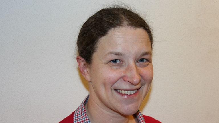 Linnea Lindgren är samordnare för Samhällsguide Uddevalla. Foto: Peter Oslsson / Sveriges Radio