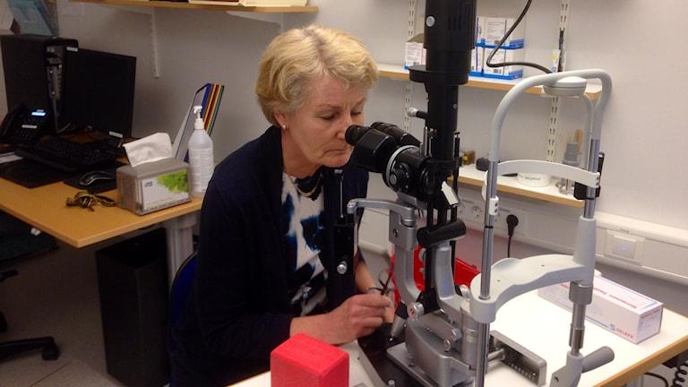 Christina Öberg, verksamhetschef för ögonkliniken i NU-sjukvården, Foto: Elisabeth Cederblad P4 Väst
