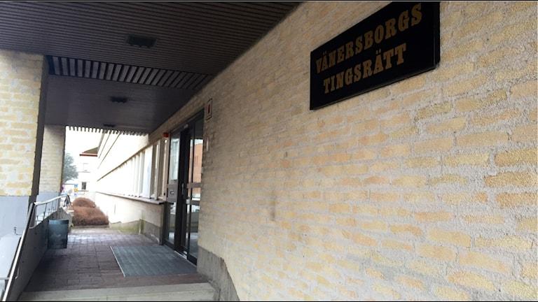 Vänersborgs tingsrätt domstol. Foto: Victor Jensen/Sveriges Radio.