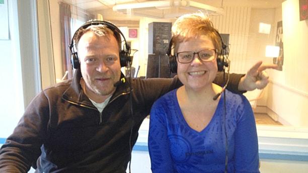 Anders Pettersson och Anna-Lena Lindqvist. Foto: Angelique Hvalgren-Johansson/Sveriges Radio.