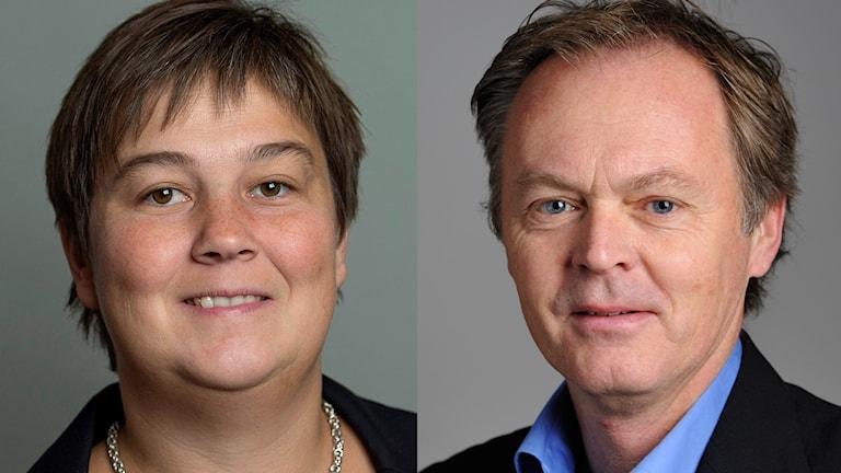 Miljöpartisterna Emma Norhén och Peter Rådberg. Foto: Jonas Ekströmer/TT HENRIK MONTGOMERY / TT