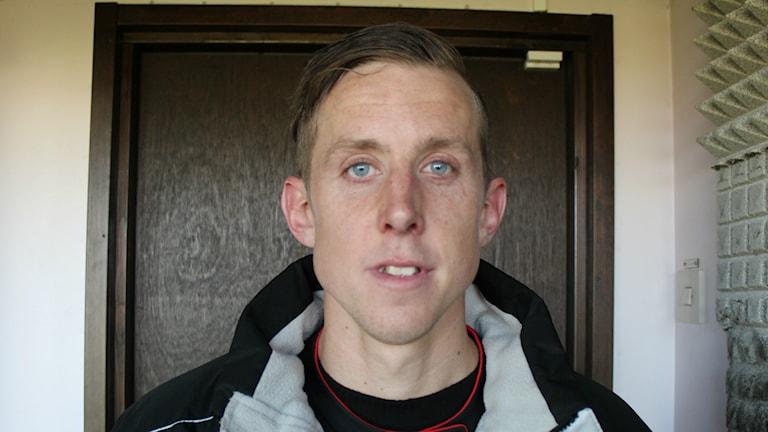 Robert Bagger gjorde två mål när FCT vann över Karlslund med 7-0. FOTO: Simon Löfving Sveriges Radio/P4 Väst