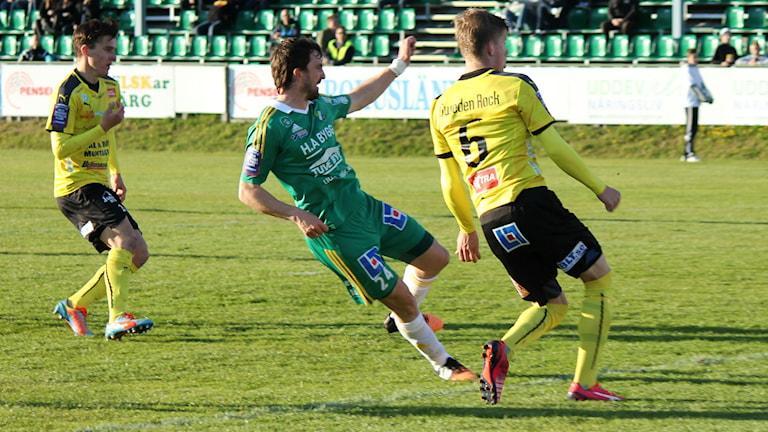 Fotboll Ljungskile Aleksandar Kitic Foto: Elliot Ohlén/ Sveriges radio