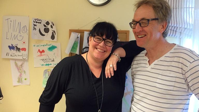Malin Hagström Morel och Sven-Erik Olsson. Foto:Cecilia Bergil/Sveriges Radio