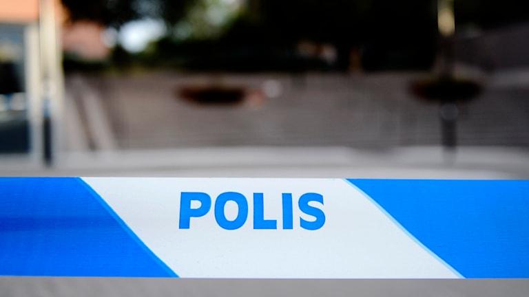 Polisens avspärrningsband. Foto: Pontus Lundahl/TT.