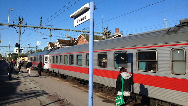 Bild på Mellerud station. Foto: Marcus Gorne/Sverige Radio