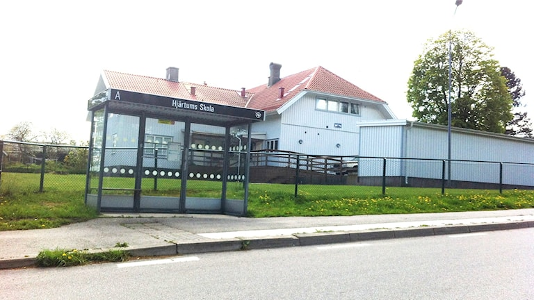 Hjärtums skola i Lilla Edets kommun. Foto: Marie Mattsson/Sveriges Radio.