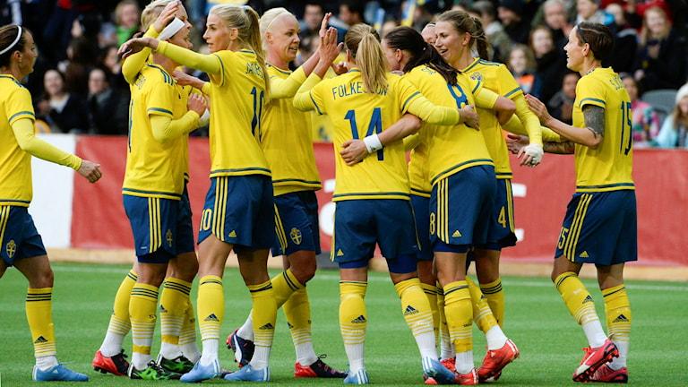 Fotbollslandslaget. Foto: Janerik Henriksson/TT.