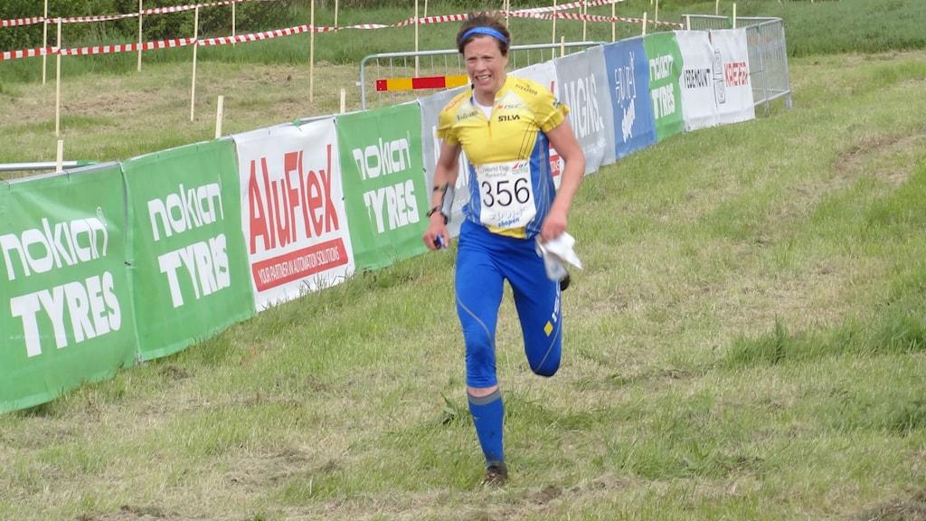 Bild på  Emma Johansson som kom två i världscupen i Munkedal.