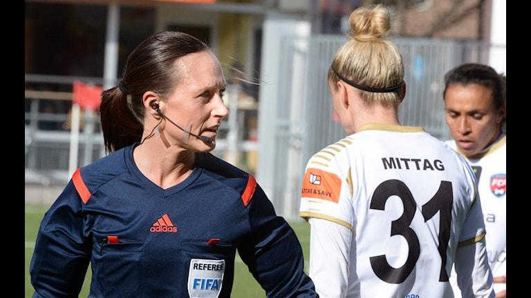 Pernilla Larsson under damallsvenska matchen mellan Kif Örebro och Rosengård på Behrn Arena i Örebro. Foto: Conny Sillén / TT