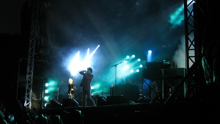 Bild på Joakim Thåström på scen under Solid Sound i Uddevalla