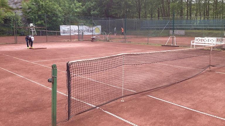 Tennisbanor. Foto: Lina Alexandersson/Sveriges Radio.