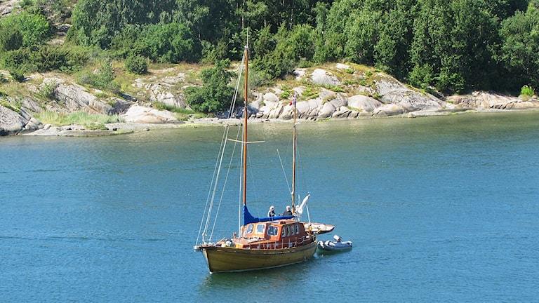 En segelbåt. Foto: Inger Grehn/Sveriges Radio.