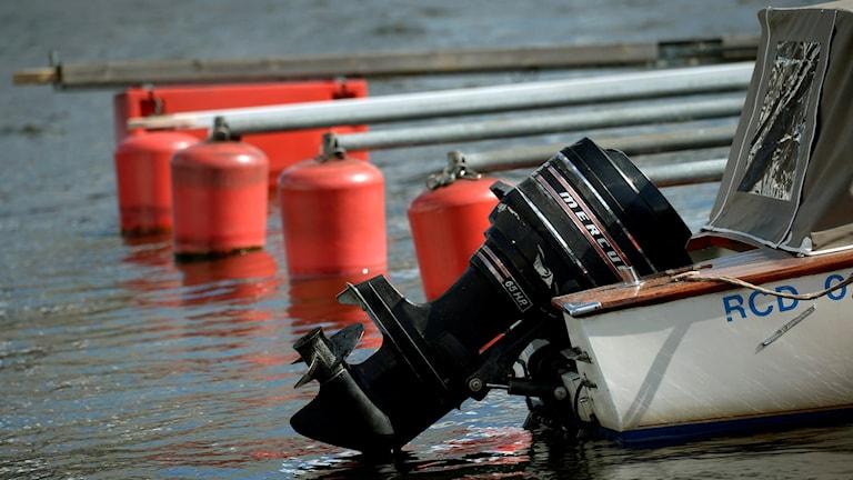Båtmotor. Foto: Janerik Henriksson/TT