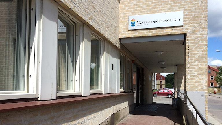 Vänersborgs tingsrätt. Foto: Lina Alexandersson/Sveriges Radio