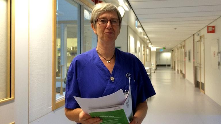 Lilian Fors är chef på förslossningsavdelningen på Näl. Foto: Alexander Ekström/Sveriges Radio