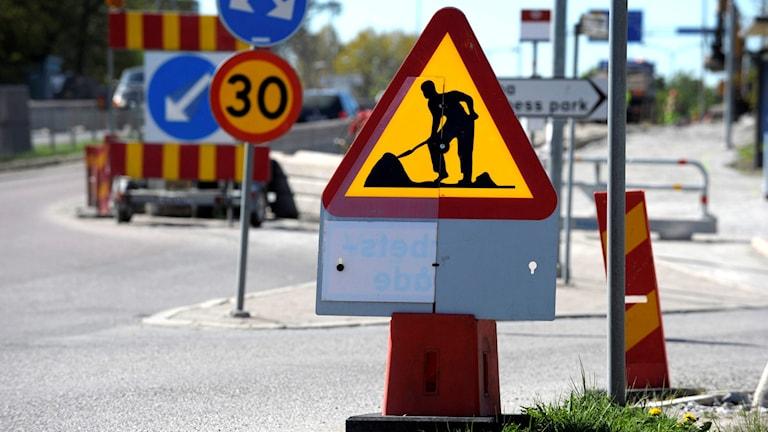 Vägarbete. Foto: Janerik Henriksson/TT