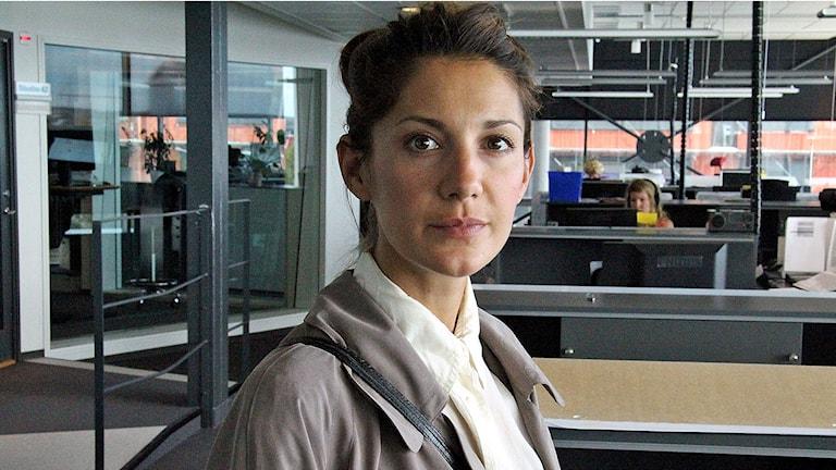 Skådespelerskan Nina Zanjani. Foto: Christian Möller/Sveriges Radio