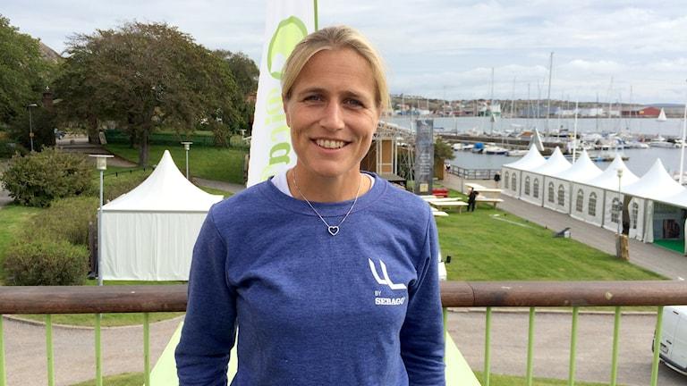 Anna Holmdahl White, projektledare för Lysekils womens match 2015. Foto: Alexander Ekström/Sveriges Radio.