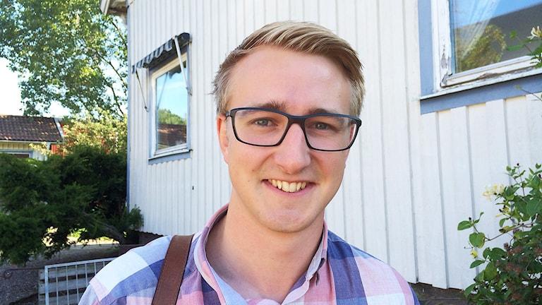 Fredrik Christensson (C). Foto: Cecilia Bergil/Sveriges Radio.