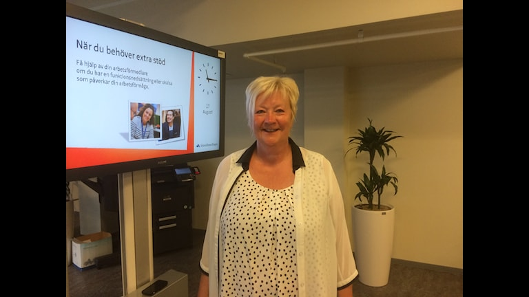 Britt-Inger Gravander, chef på Arbetsförmedlingen i Trollhättan. Foto: Birgitta Andersson/Sveriges Radio