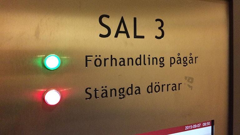 Sal 3 på Göteborgs tingsrätt. Foto: Victor Jensen/Sveriges Radio.